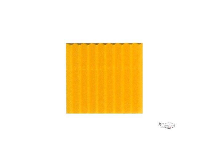 Karton 50x70 cm 300g vlnitý  žlutý