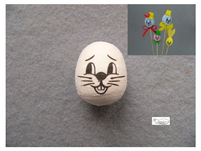 Vatová hlava zajíc 3 cm
