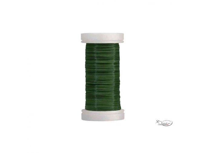 Drátek zelený - cívka 100 m x 0,35 mm