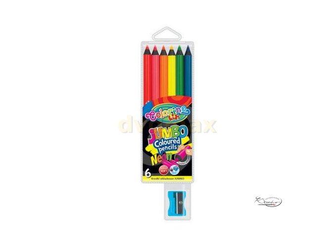 Pastelky Colorino Jumbo Neon 6