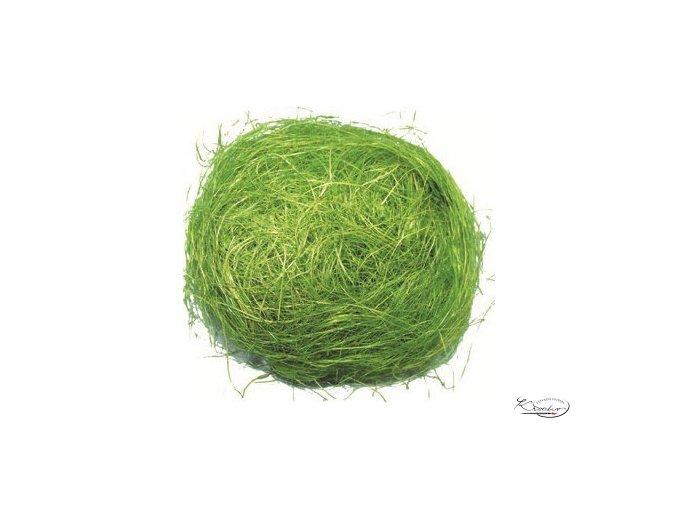 Dekorační sisal 30g - zelený