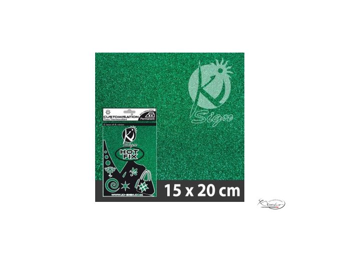 Fólie nažehlovací glitter - Smaragdová