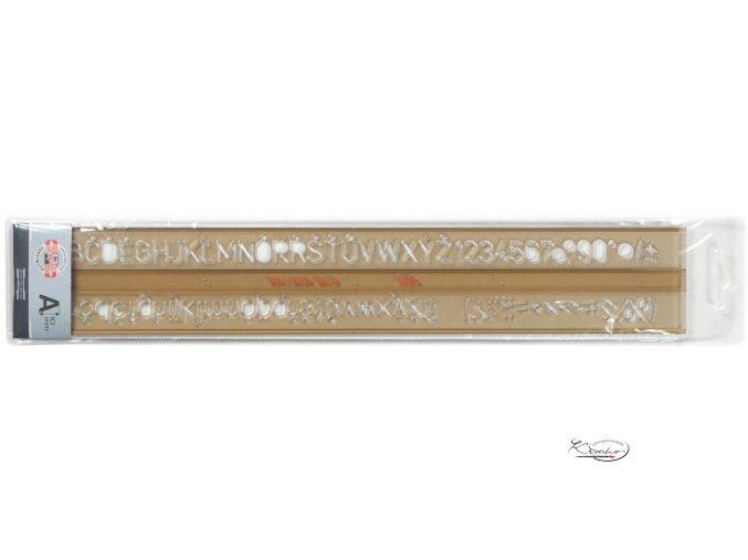 Šablona písmenková 10 mm