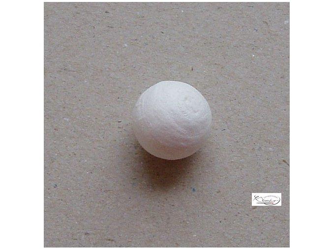 Vatové kuličky - bílé 19 mm/6 ks