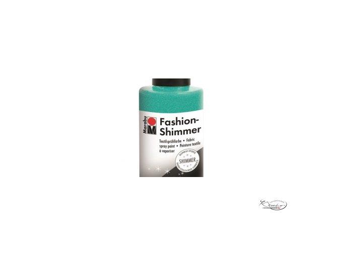 Fashion Spray Shimmer Marabu 100 ml - 599 Třpytivá Akvamarínová