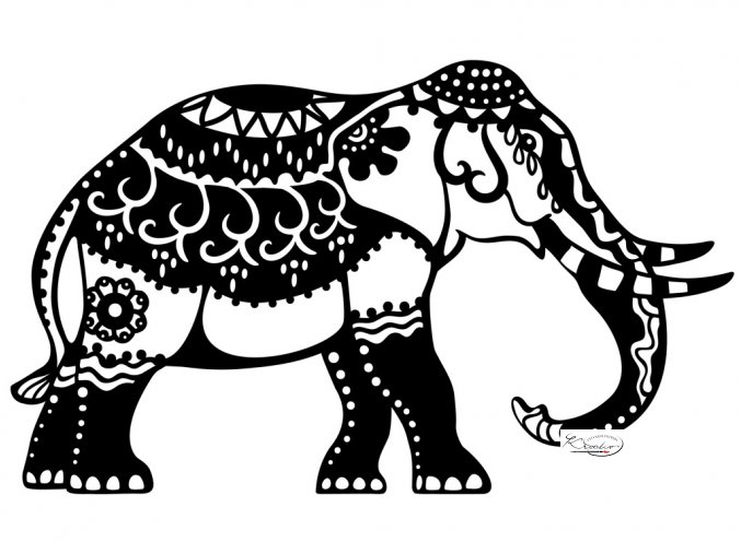 Šablona Silhouette Marabu - Indian Elephant A4