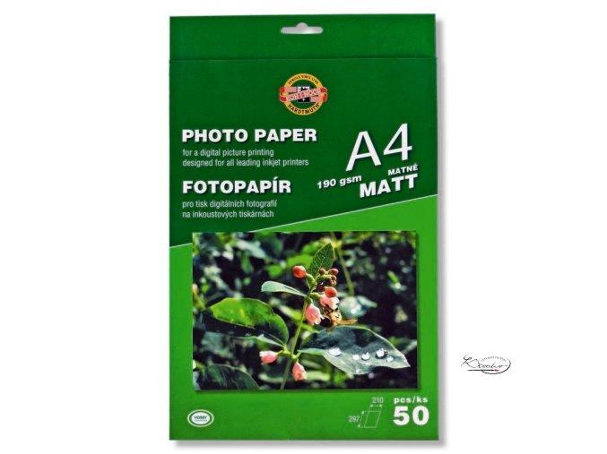 Fotopapír 190gsm/A4/matný 20ks Koh-i-noor