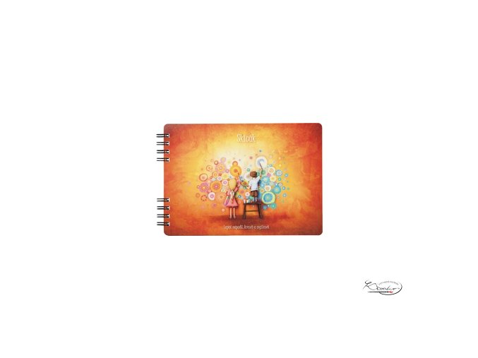 Skicák B5 Duhová kočka - Tvořivost