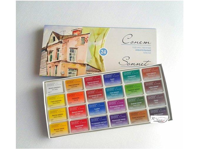 Akvarelové barvy Sonnet 24