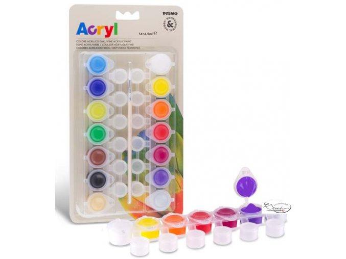 Akrylové barvy Primo 14x4,5ml