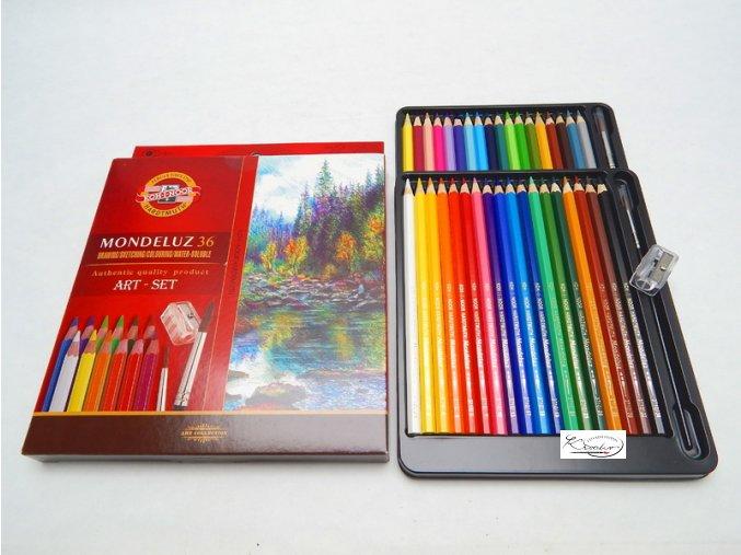 Akvarelové pastelky Mondeluz 36