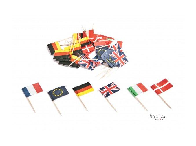 Napichovátka - Vlaječky 50ks
