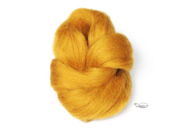 Ovčí vlna česaná 20g - 35 Zlatý písek
