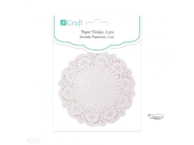Dekorativní papírové rozetky - bílé