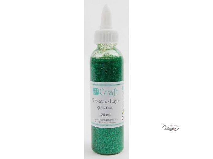 Dekorační glitter lepidlo 120ml - zelené