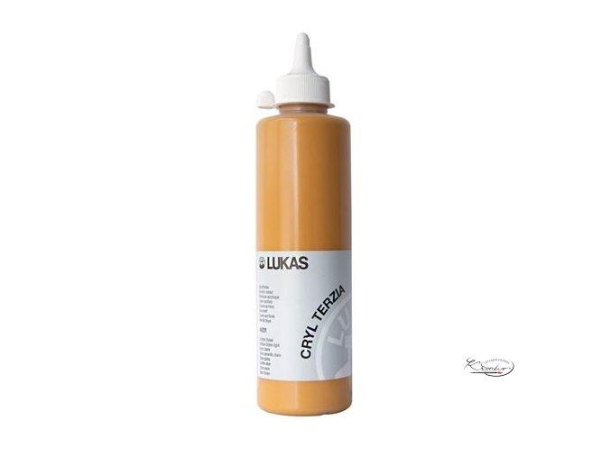 """Akrylová barva LUKAS """"Cryl Terzia"""" 500ml - Okr světlý"""