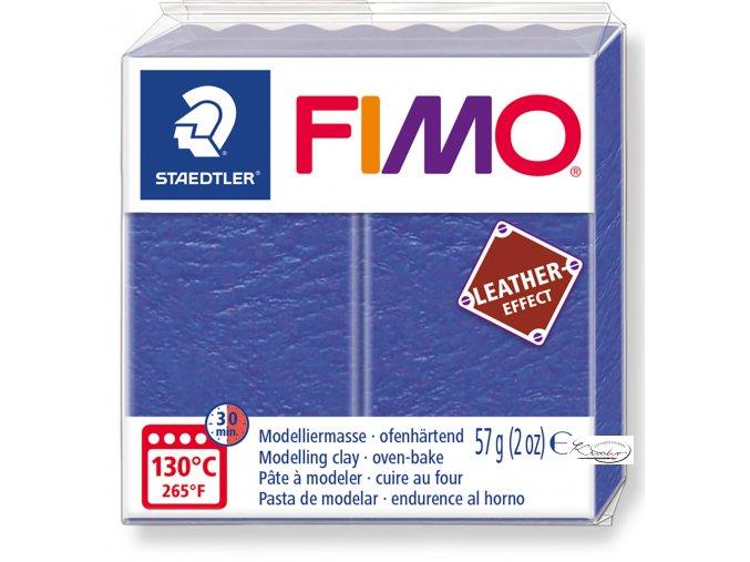 Fimo Effect Leather - 309 modrá indigo