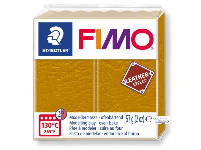 Fimo Effect Leather - 179 okrová