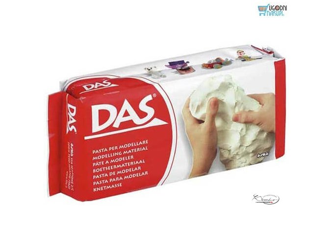 Modelovací hmota DAS 500 g - Bílá