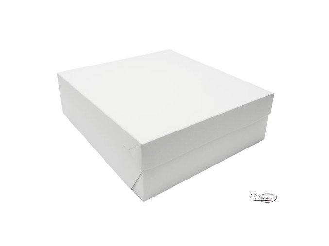 Dortová krabice bílo - šedá 28 × 28 × 10 cm51632637600 490 450 nowm fit