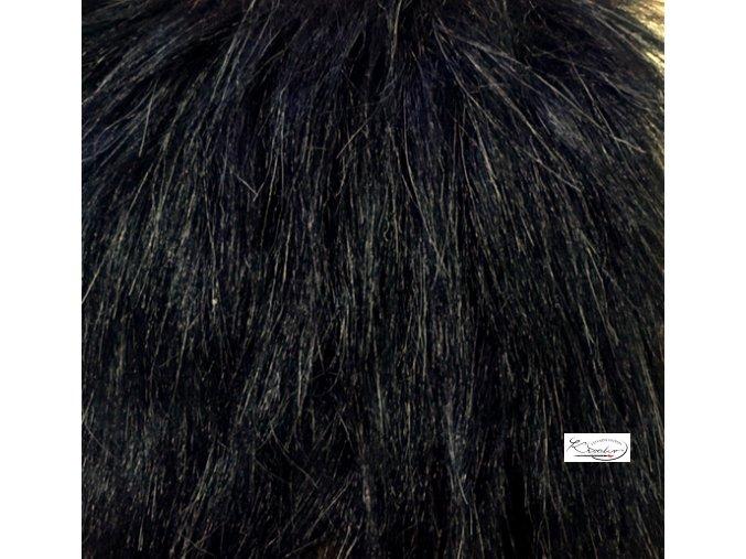 Umělá kožešina 20 x 37 cm - černávyr 11486 Artur 918