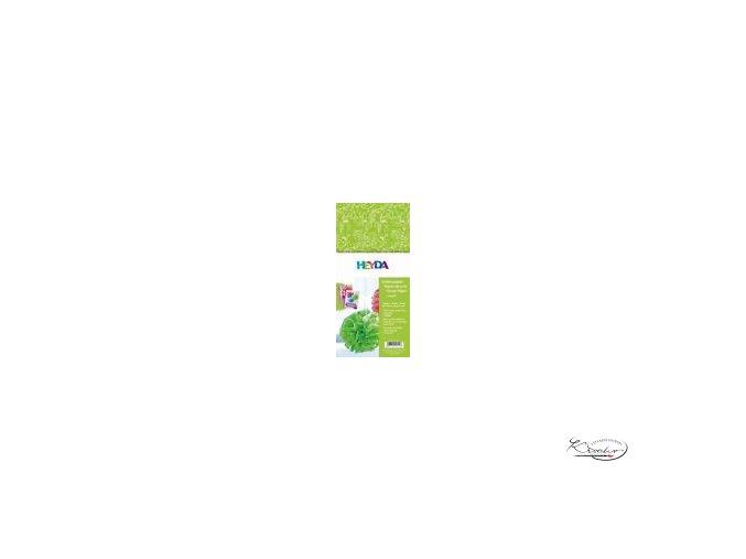 Hedvábný papír 50x70 cm 20g - zelený Ornamenty