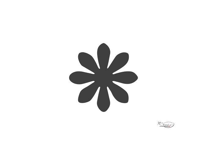 Děrovač červený 15mm - květina