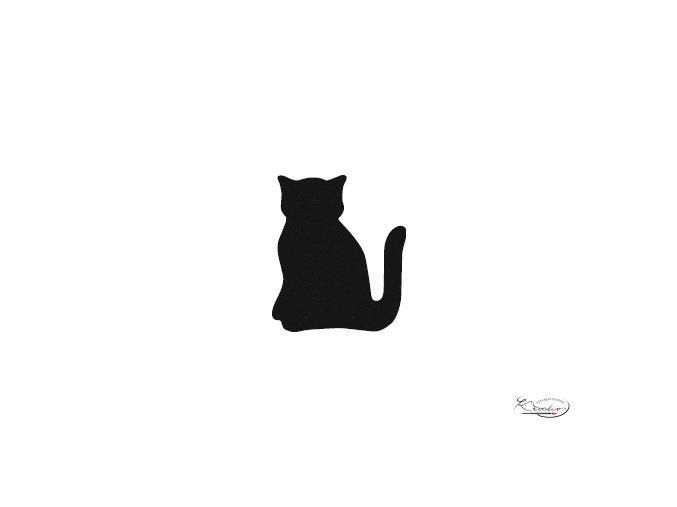 Děrovač červený 15mm - kočka