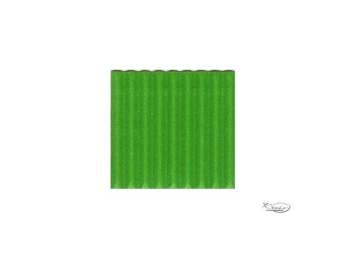 Karton 50x70 cm 300g vlnitý  světle zelený