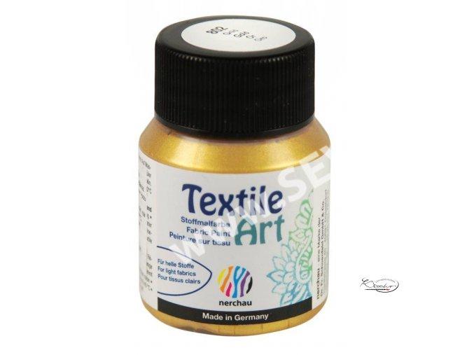 Textile Art 59 ml - 802 Zlatá metalická