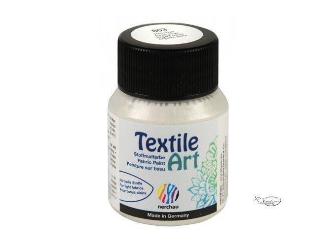 Textile Art 59 ml - 803 Stříbrnobílá perleť