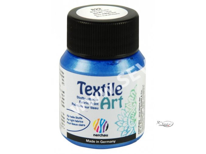 Textile Art 59 ml - 822 Modrá metalická