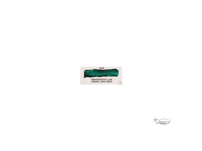 Olejová barva č. 0040 smaragdový lak 20ml