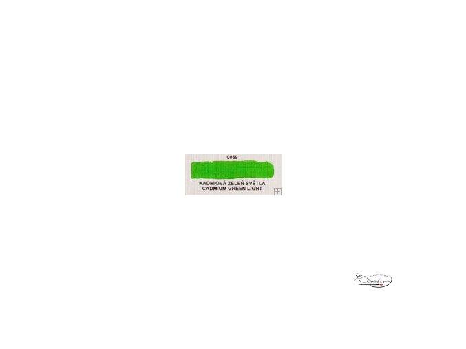 Olejová barva č. 0059 kadmiová zeleň světlá 20ml