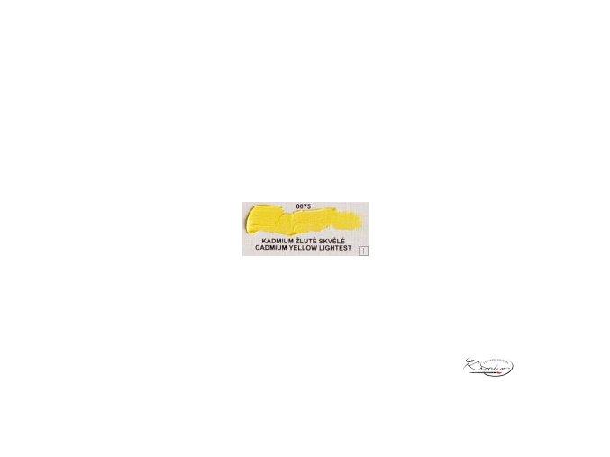 Olejová barva č. 0075 kadmium žluté skvělé 20ml