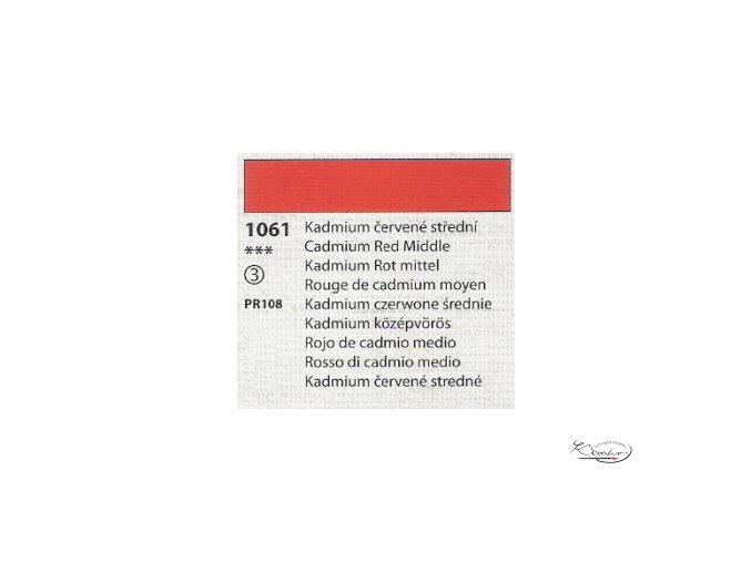 Tempera Umton 35 ml - 1061 Kadmium červené střední