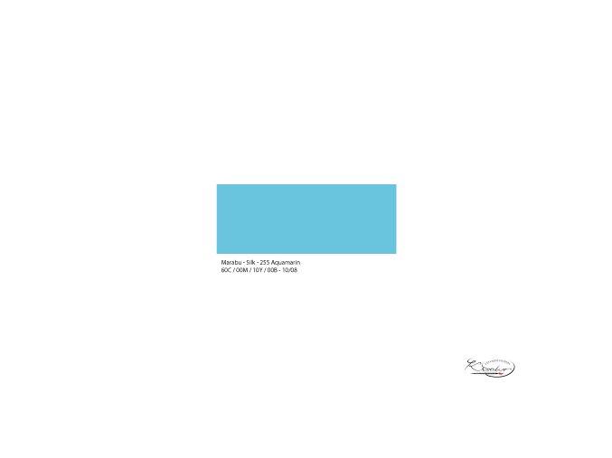 Silk Marabu  č. 255 Aquamarine barva na hedvábí 50ml