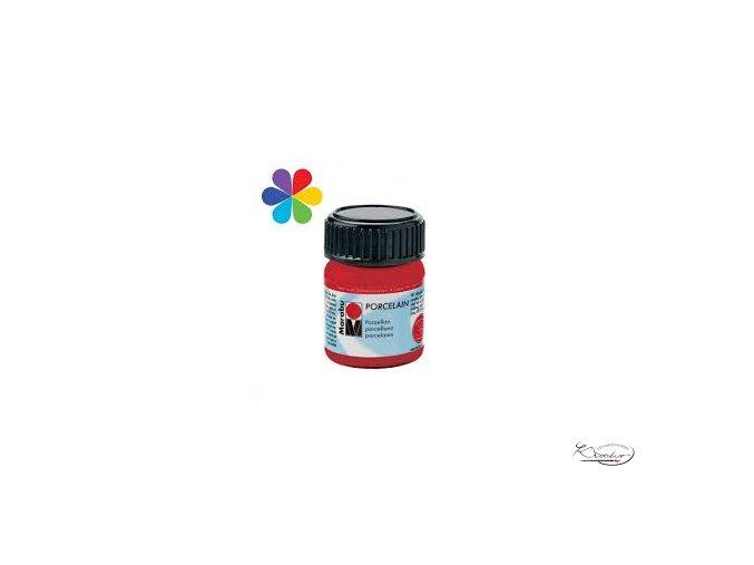Porcelain Marabu 15ml - 125 Červená třešňová