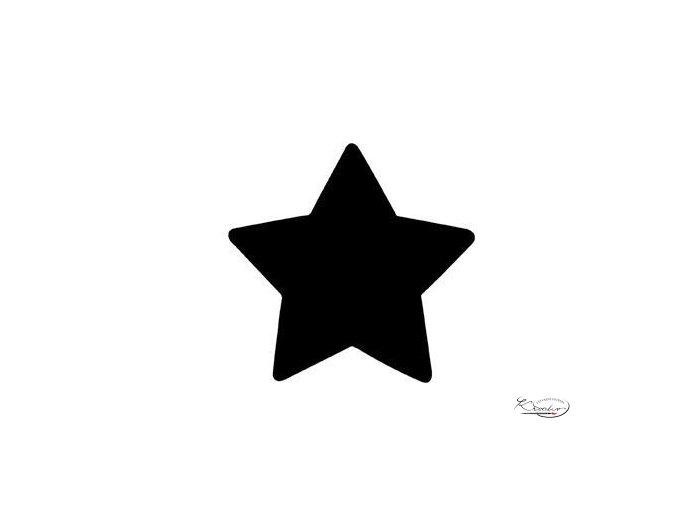 Výsekový strojek 22mm plný - Hvězda