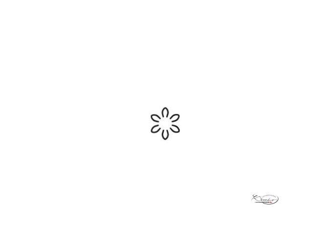 Výsekový strojek 22mm - Květina