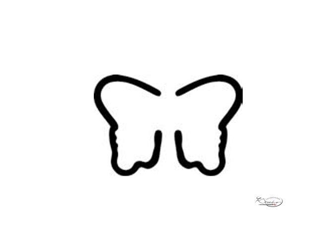 Výsekový strojek 22mm - Motýl