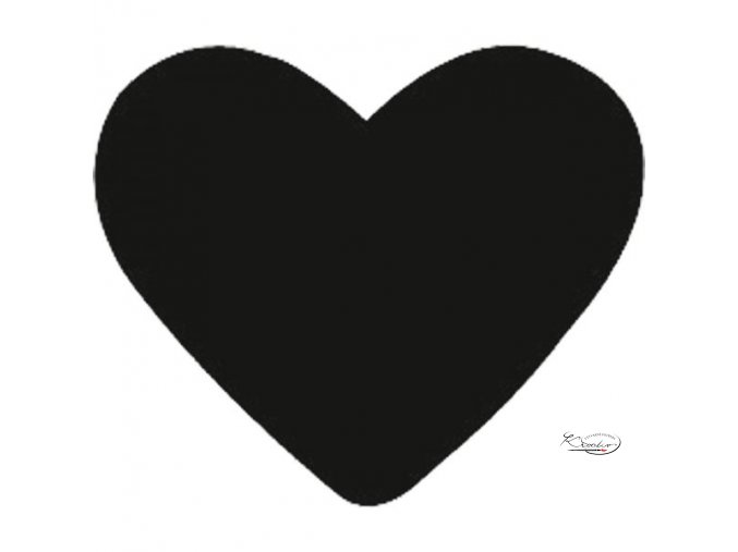 Děrovač modrý 22mm plný - Srdce
