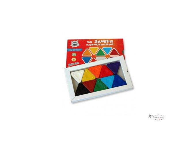 Magic Triangle wax crayon 10