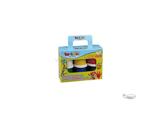Prstové barvy Toy Color 6 x 80ml