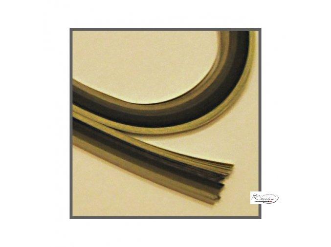 Papírové proužky 50x0,5cm set černo-bílý