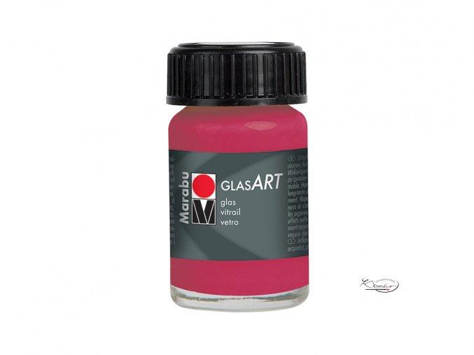 GlasArt Marabu 15 ml - 432 Červená karmínová