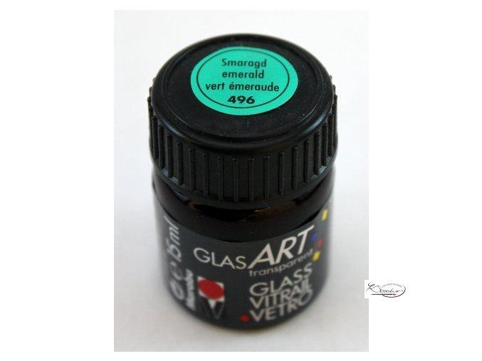 GlasArt Marabu 15 ml - 496 Zelená smaragdová