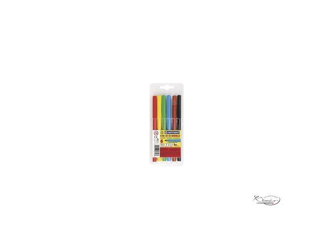 Popisovače barevné Colour World 6
