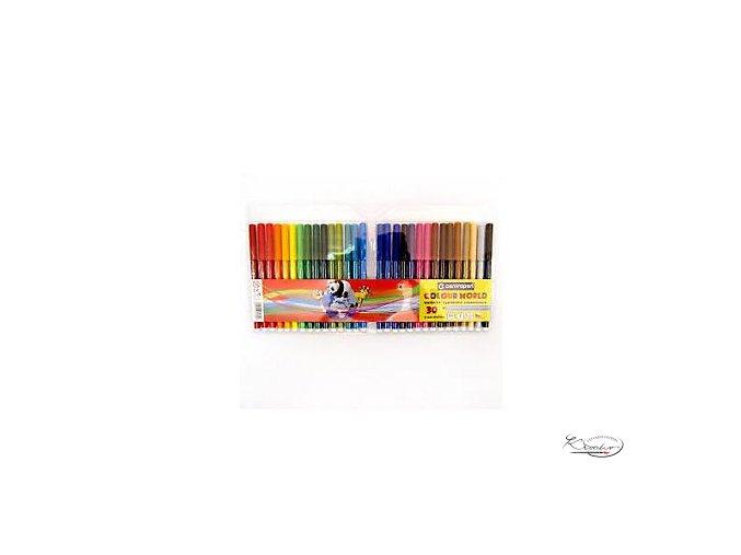 Popisovače barevné Colour World 30