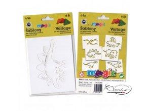 Magic papírové šablony sada L - Dinosauři